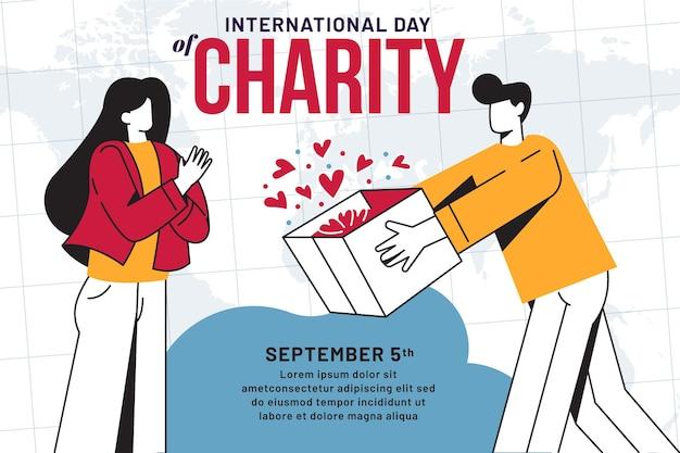 Journée internationale de la charité à plat
