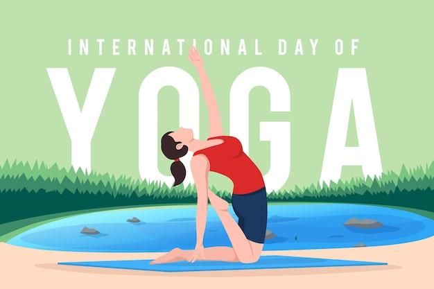 Journée internationale de la conception d'illustration de yoga