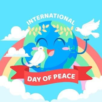 Journée internationale de la conception plate de la paix