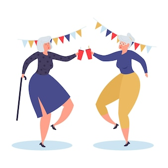 Journée internationale dessinée à la main des personnes âgées avec grands-parents