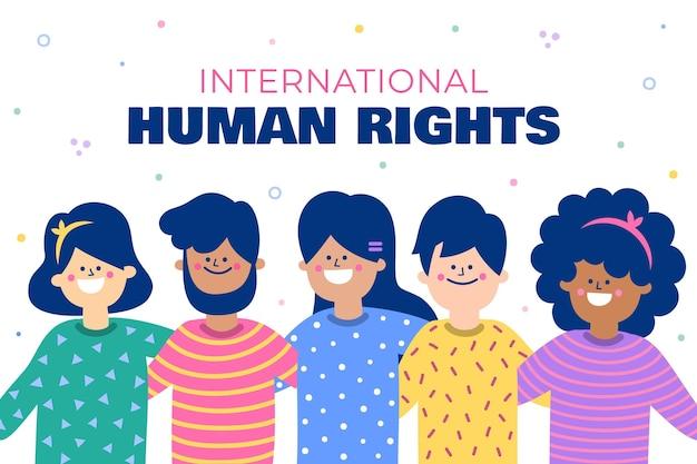 Journée internationale des droits de l'homme dessinée à la main