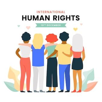 Journée internationale des droits de l'homme illustrée