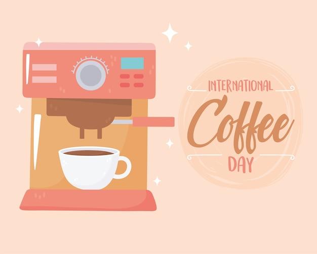 Journée internationale du café, de la machine à boissons et de la tasse