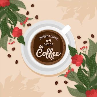 Journée internationale du café plat