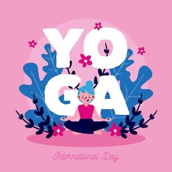 Journée internationale du concept de dessin de yoga