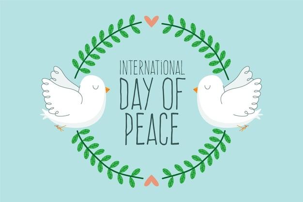Journée internationale du design plat du fond de la paix