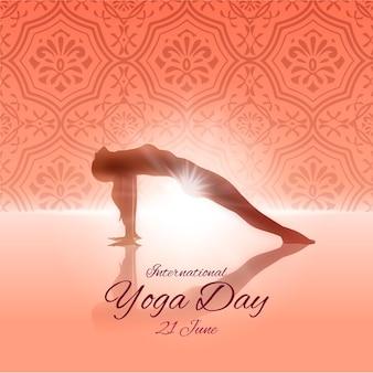 Journée internationale du design plat de yoga