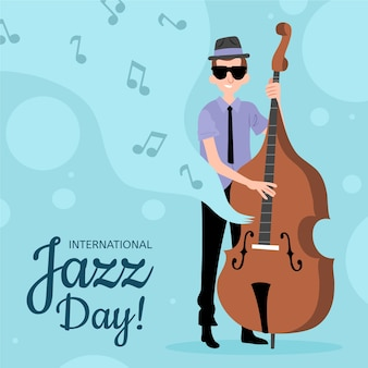 Journée internationale du jazz dessinée à la main