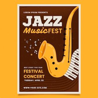 Journée internationale du jazz de style vintage
