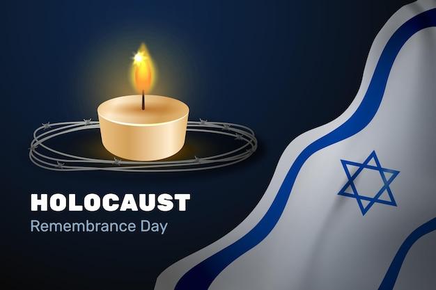 Journée internationale du souvenir de l'holocauste au design plat