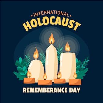Journée internationale du souvenir de l'holocauste dessiné à la main