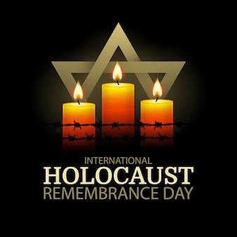 Journée Internationale Du Souvenir De L'holocauste Vecteur Premium