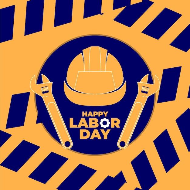 Journée internationale du travail, journée internationale des travailleurs le 1er mai avec illustration du casque