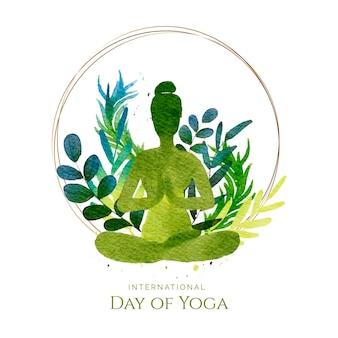 Journée internationale du yoga à l'aquarelle