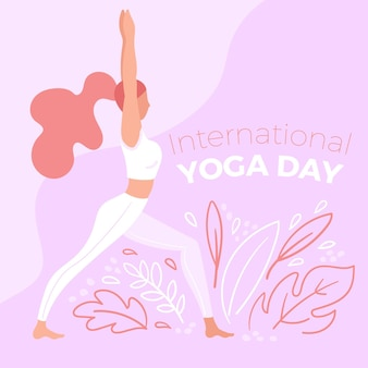 Journée internationale du yoga à la main