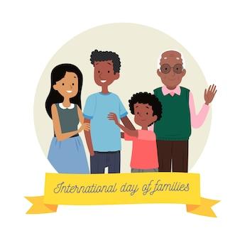 Journée internationale des familles dessinée à la main