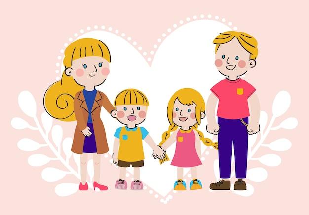 Journée internationale des familles grand amour douce convivialité caractère familial