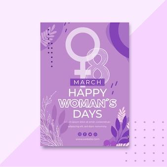 Journée internationale de la femme a5 verticale