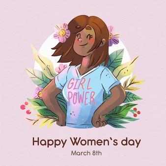 Journée internationale de la femme aquarelle