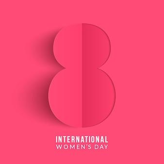 Journée internationale de la femme. conception d'origami à 8 numéros.