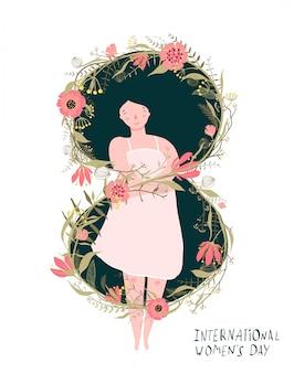Journée internationale de la femme fille romantique
