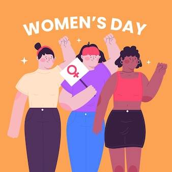 Journée internationale de la femme girl power