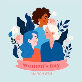 Journée Internationale De La Femme Girl Power Vecteur Premium