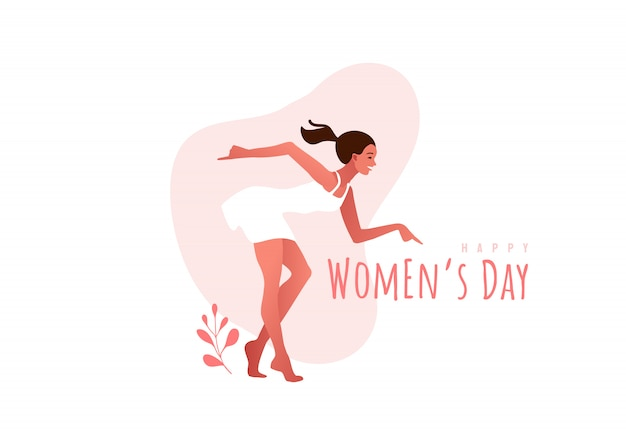 Journée internationale de la femme. mars. femme, danse