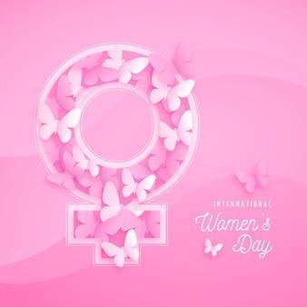 Journée internationale de la femme en papier