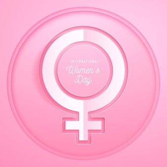 Journée internationale de la femme réaliste en style papier