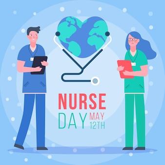 Journée internationale des infirmières avec des gens