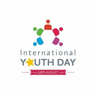 Journée internationale de la jeunesse logo creative