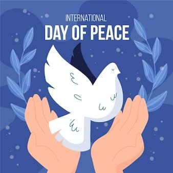 Journée internationale de l'oiseau de la paix illustré