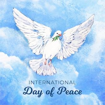 Journée internationale de la paix aquarelle