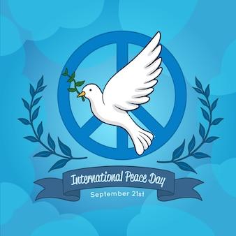Journée internationale de la paix avec colombe