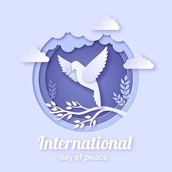 Journée internationale de la paix dans le style du papier