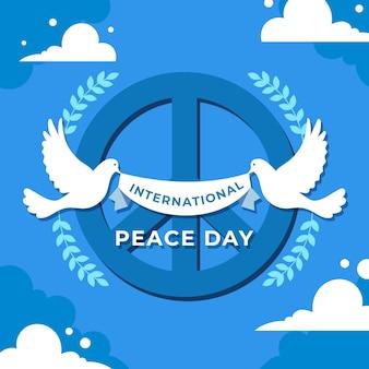 Journée internationale de la paix design plat