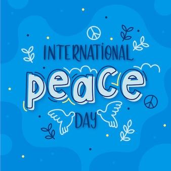 Journée internationale de la paix lettrage