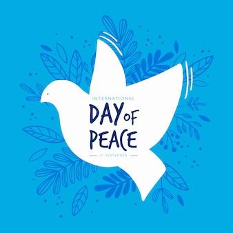 Journée internationale de la paix avec oiseau