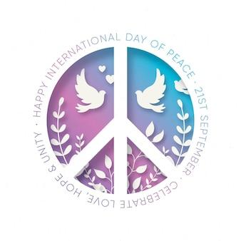 Journée internationale de la paix en papier