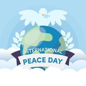 Journée internationale de la paix à plat