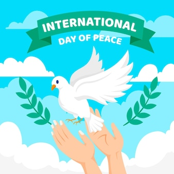 Journée internationale de paix plate