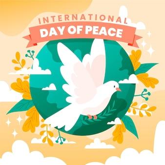 Journée internationale de la paix de style dessiné à la main