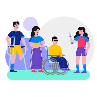 Journée internationale des personnes handicapées au design plat