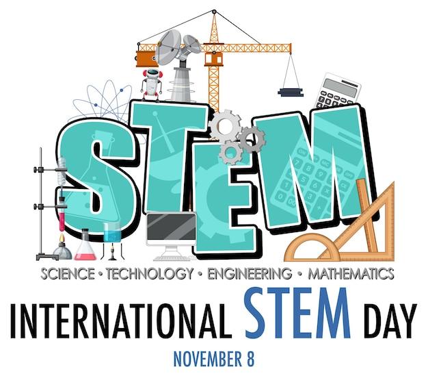 Journée internationale des stem le 8 novembre, bannière du logo