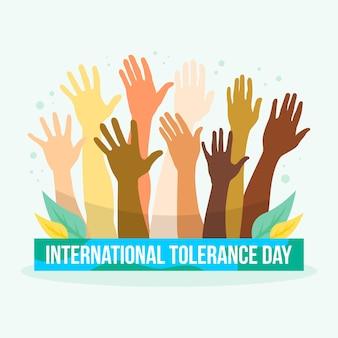 Journée internationale de la tolérance avec une main différente