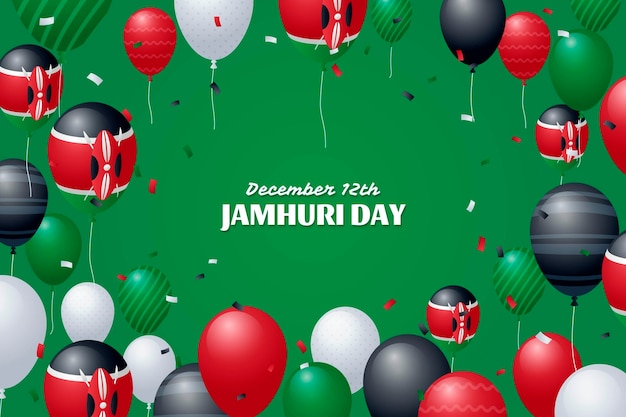 Journée jamhuri avec des ballons réalistes