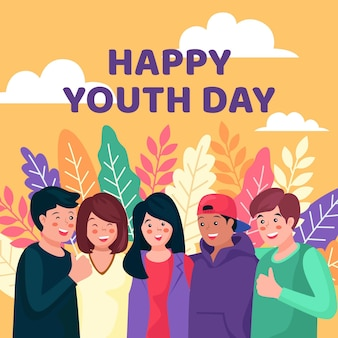 Journée des jeunes étreignant