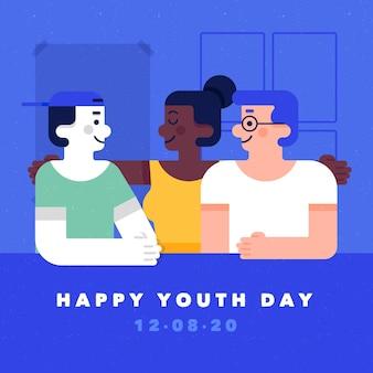 Journée de la jeunesse avec des gens qui s'embrassent