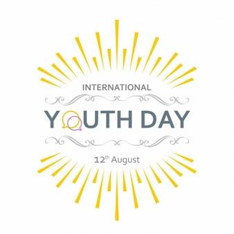 Journée de la jeunesse internationale étiquette